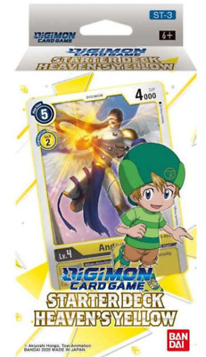 Bandai Digimon Heavens Yellow Starter Deck Box Sealed ENGLISH NEW IN STOCK