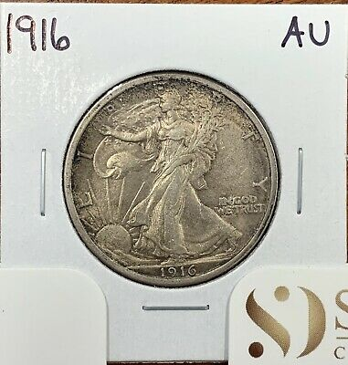 1916 Walking Liberty Half Dollar About Uncirculated AU*Better Date*