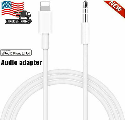 3-5mm AUX Audio Car Adapter Auxiliary Cable Cord For iPhone 11 Pro Max 8 7 Plus