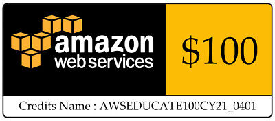 100 AWS Amazon Web Services VPS Credit Code Lightsail EC2 Immediately