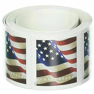 100 USPS US Flag 2019 Forever Stamps - 1 roll of 100 FREE SHIPPING