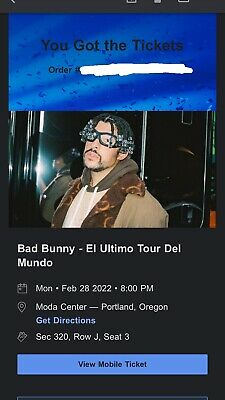 Bad Bunny - El Ultimo Tour Del Mundo - Portland Oregon 2022 ORDER CONFIRMED