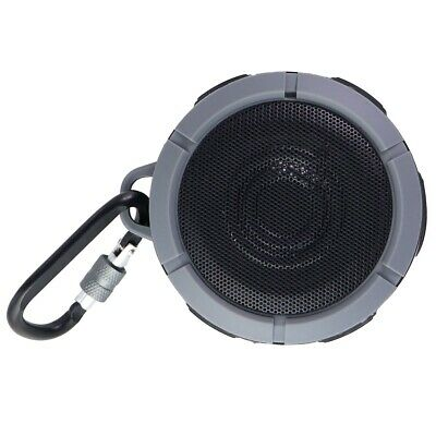 Quikcell Drench Series Rubberized Rugged Waterproof Bluetooth Speaker - Charcoal