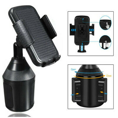 Universal Cell Phone Cup Holder Car Mount Cradle for GPS iPhone Samsung Adjust