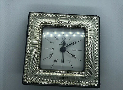 Wallace Silversmiths Sterling Silver Table Clock Alarm Clock