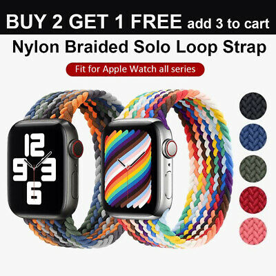 Nylon Braided Solo Loop for Apple Watch Strap Band iWatch Series 7 6 SE 5 4 3 21