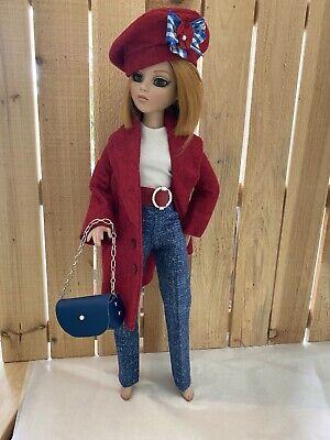 Ellowyne Wilde 16 Doll Tonner Outfit Fashion Gown - Coated In Red