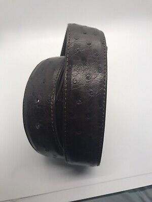 Mens size 38 Tan Ostrich Full Quill Leather Western Cowboy Belt