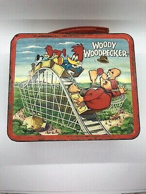 Vintage 1972 WOODY WOODPECKER Metal Lunchbox- No Thermos