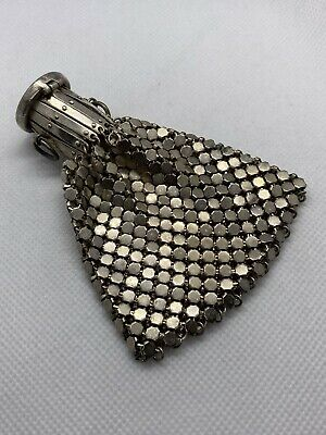 Vintage small beggars style silver mesh coin purse