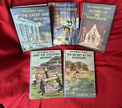 The Bobbsey Twins Book Lot of 5 Childrens Books - 3 46 55 57 60