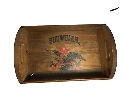 Vintage Wooden Budweiser Anheuser Busch Tray By Gideon Anderson