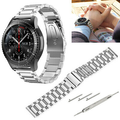 Silver Stainless Steel Watch Strap Band Bracelet Wrist 22mm For Samsung Gear S3