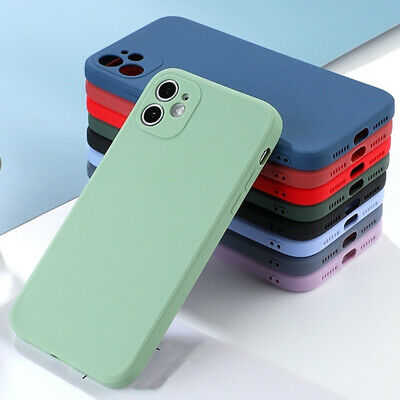 Phone Case For iPhone 11 12 Pro Max XR XS X 8 7 Plus SE 2 Liquid Silicone Cover