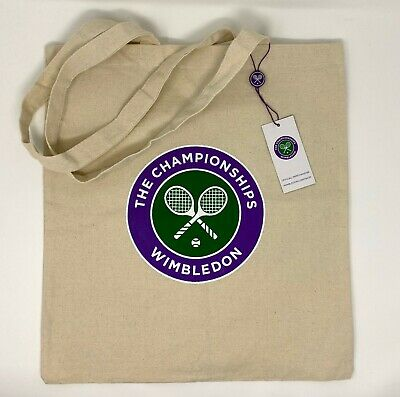 WIMBLEDON TENNIS THE CHAMPIONSHIPS CANVAS TOTE BAG BRAND NEW