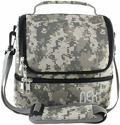 Insulated Lunch Bag Leakproof Cooler Travel Lunch Box Tote wAdjustable Strap