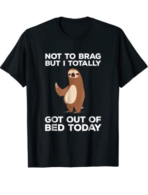 Unisex Cotton Funny Gift Funny Sloth T-shirt - for Men Woman Kids T-Shirt