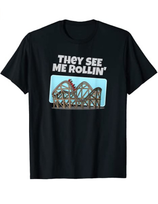 Unisex Cotton Funny Gift They See Me Rollin  Funny for Men Woman Kids T-Shirt