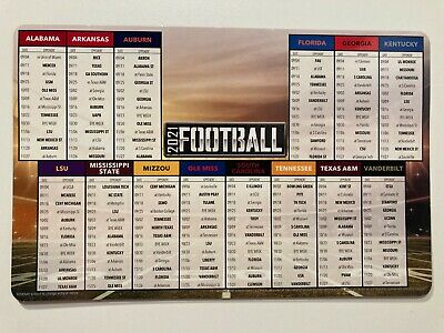 2021 SEC COLLEGE FOOTBALL SCHEDULE ALL 14 TEAMS DATES - TEAMS PLAYED 8 X 5