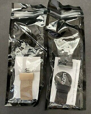 Oitom Fitness Watch Bands Set of Two Metal Mesh Gold and Black