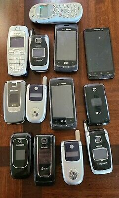 Vintage Cell Phone Lot  13 Old Used Mobile Phones