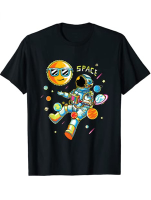 Unisex Cotton Funny Graphic Surfer Gift Planet Gift for Men Woman Kids T-Shirt