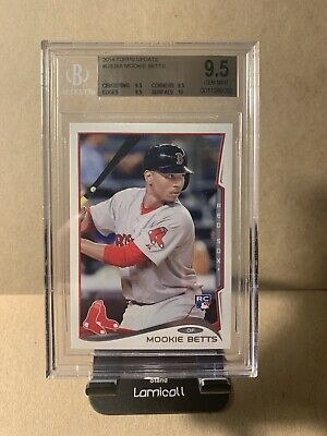 2014 Topps Update Mookie Betts US26A BGS 9-5 GEM MINT RC ROOKIE CARD