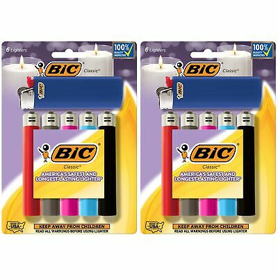 BIC Classic Lighter Assorted Colors 12-Pack