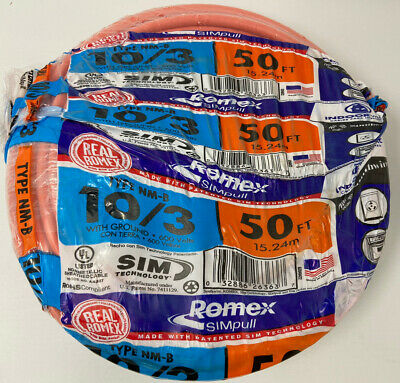 🔥🔥50 ft 103 romex indoor electrical wire  50 feet
