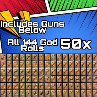 50x Supercharged 144 Guns Fortnite Save The World