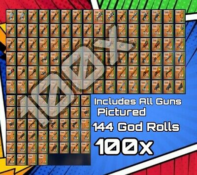 100x Supercharged 144 Guns Fortnite Save The World