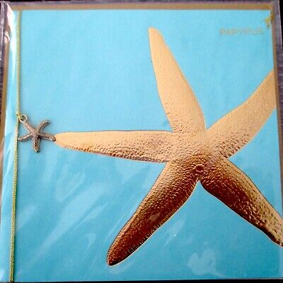 Papyrus Gold StarfishCharm Blank Any Occasion Greeting Card