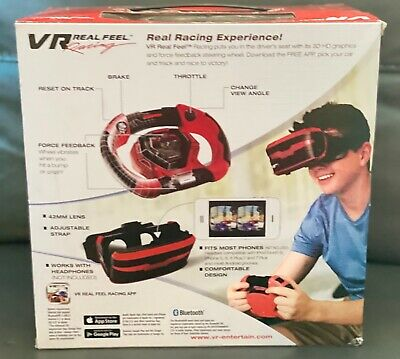 NEW VR Real Feel Racing Headset - Bluetooth - 3D Reality Simulator