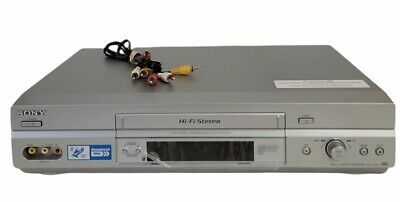 Sony SLV-N750 VCR VHS Hi-Fi Stereo w RCA Cables -  No Remote Tested Working