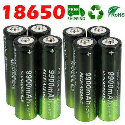 8X Rechargeable Batteries 3-7V Li-ion Battery For LED Headlamp Flashlight Toy