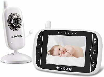 HelloBaby HB32 Baby Monitor with 3-2Inch LCD Display Night Vision