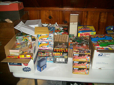 Dads old baseball cards- Unopened packs from 20 years ago- Huge Lot