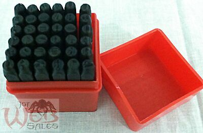 36pc Number and Letter Punch Set 18 Hardened Steel Metal Die Jewelers wCase
