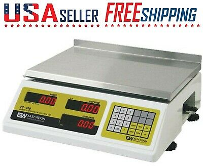EASY WEIGH PC-100 Price Computing Scale 60Lb Weigh Scale S2000 PC100