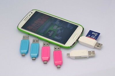 OTG TFSD card reader Smartphone Computer 2 in 1 USB reader USB A to Micro USB