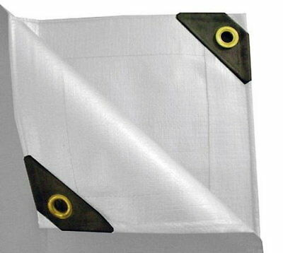 5 OFF 2- 12 mil Heavy Duty Canopy Tarp WHITE 3pl Coated Tent Car Boat Cover