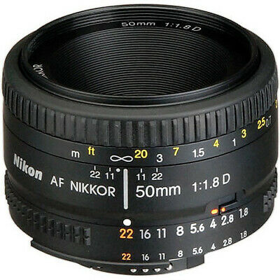 NEW Nikon 50mm f1-8D 1-8 AF Nikkor Autofocus Lens 50 mm