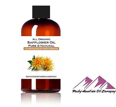100 PURE ORGANIC SAFFLOWER OIL COLD PRESSED 1 oz to GALLON COOKING