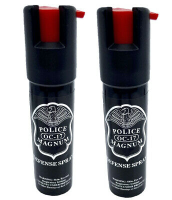 2 PACK Police Magnum pepper spray 34oz Safety Lock Defense Security Protection