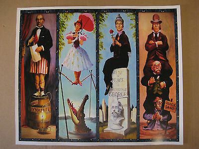 Vintage Disney  Haunted Mansion stretching Room  T2 Collectors  Print - B2G1F