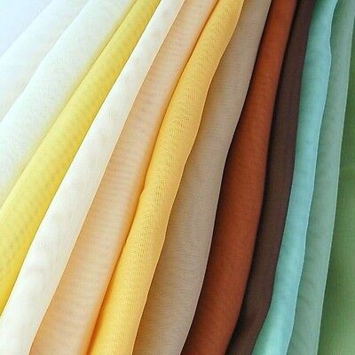 Sheer Voile Fabric 118 Wide Curtain Drapery and Apparel per yard 100 polyester