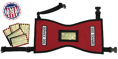 Quick-Ship Service Dog Vest w FREE patches - 5 FREE Info Cards In Clear Pocket