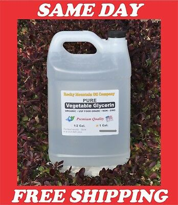 1 GALLON PURE ORGANIC  VEGETABLE GLYCERIN  NON GMO USP FOOD GRADE VG 128 OZ-