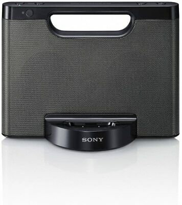 Sony ICFCS15IPN Lightning iPhoneiPod Clock Radio Speaker Dock Black