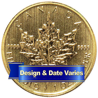 50 Gold Canadian Maple Leaf  -9999 1 oz Random Year Brilliant Uncirculated